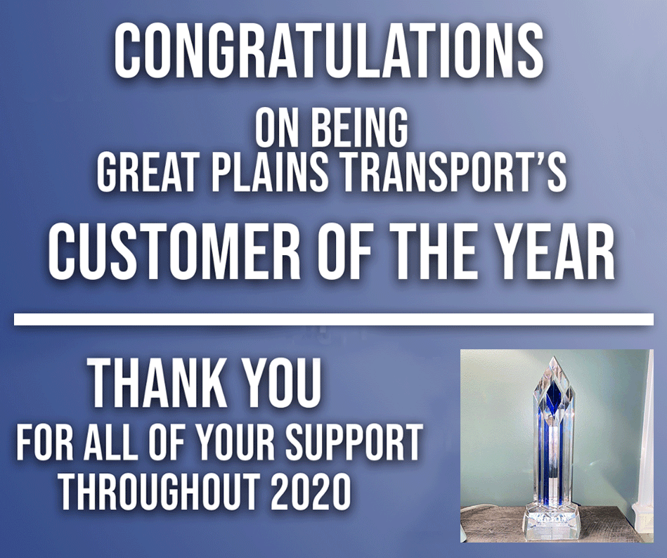 ||Great Plains Transport Names Brill 2020 Customer of the Year